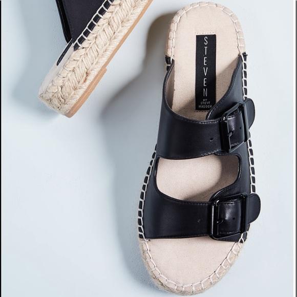 ede510eec95 NWTs STEVEN x Steve Madden Lapis Black Sandals